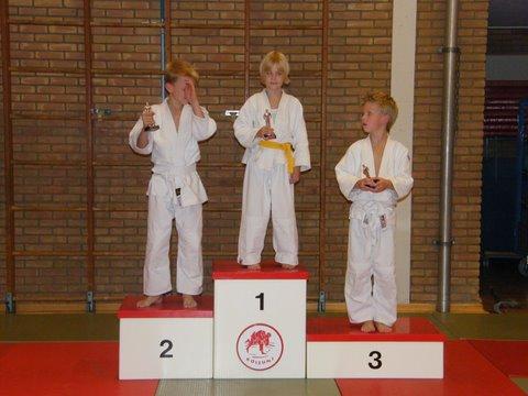 judo 57. 1e Ellis - 2e Hense - 3e Twan