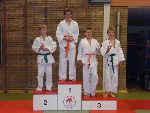 judo 61. 1e Nick - 2e Tom - 3eRobbert - 3e Rick