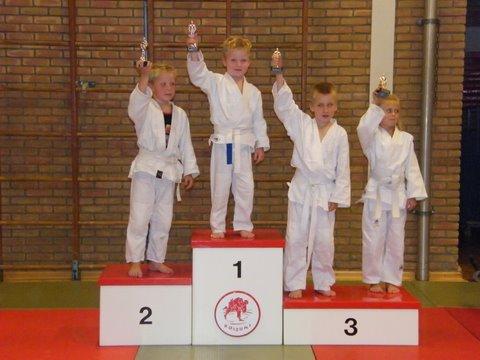 judo 62. 1e Jordan- 2e Quin -3e Fabian -3e chanoa