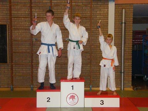 judo 67. Wedstrijdprestaties 1e Tom - 2e Jarice - 3e Erno